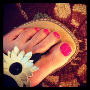 Amazing what a pedicure can do for runner's feet!